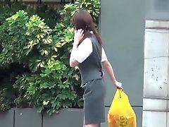 Japanese babes being sharked by brazen voyeurs