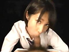 Japanese schoolgirls hardcore blowjob